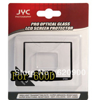 100% GUARANTEE  50 PCS JYC Pro 0.5mm LCD Screen optical GLASS Protector Cover For CANON EOS 600D