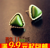 20pairs/lot E2172 queer accessories popular triangle emerald stud earring female
