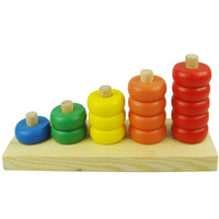 Wooden board multicolour Math Toys Educational toy count game learning Educational toy