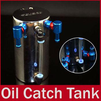 9mm Universal Fluid Tank  Reservoir Hose Engine Oil Catch Can Aluminum for Honda Toyota Mazda Free Shipping
