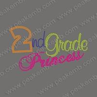 Colorful 30Pcs/Lot Free Dhl Shipping Second Grade Iron On Princess Transfer Rhinestone Applique Heat Transfer Designs