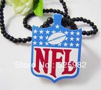 5Pcs/Lot Basketball NFL Pendant Good Wood Hip-Hop Wooden Fashion Dancer Color Necklace