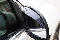 1pair New Smart Flexible Plastic Car Rear view mirror Rain Shade Guard Water Sun Visor Shade Shield Black