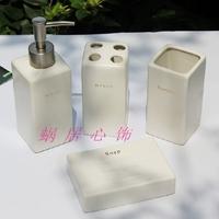 Square fashion brief fashion bathroom supplies piece set white ceramic bathroom sanitary ware set
