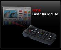 whole sale Laser Air Mouse Measy RC10 2.4G Wireless Remote Control For Android Smart TV Box Desktop Laptop Mini PC Free shipping