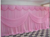3m*6m Wedding backdrop curtain \ ice silk fabric wedding/party decoration Free shipping
