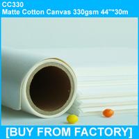 "330g Matte Cotton Printable Canvas for Inkjet Printers 44""*30M"