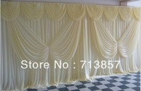 ivory background/10feet *20feet wedding backdrop/banquet curtains/Free shipping