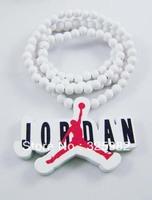 Wholesale 5Pcs/Lot  Basketball Brand Pendant Hip-Hop Good Wood Wooden Fashion Dancer Color Hip-Hop Necklace