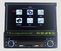 "7"" TFT-LCD Screen Car DVD player Multimedia Media Player with DVD FM Radio USB Jack SD Slot"