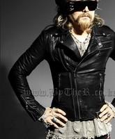 Free Shipping!!! New style fashion Man Korean Slim Fit leather jackets coat   men Motorcycle leather Jacket coat M-XL