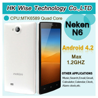 in stock Neken N6 1G RAM 16G ROM Android 4.2 MTK6589 Quad Core Mobile Phone\kevin