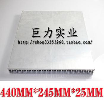 100w aluminum radiator high quality aluminum high power led heat sink long 440 245mm
