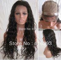Custom order Malaysian virgin hair Silk Top And Thin Skin Natural Wave 150%Density full lace wig