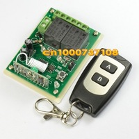 DC12V  2 CH remote control wireless switch/ radio controller 315mhz 433.92mhz  waterproof transmitter remote code motor