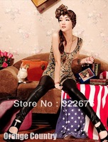 Free Shipping Women's U-neck Special Designed Shining Snake Pattern Slim Backless Vest TQ12091402