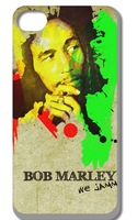 new the Bob marley  case cover for iphone 4 4s 4G 4th free shipping 10pcs/lot