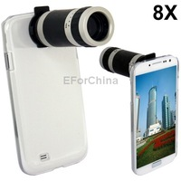 8X Zoom Mobile Phone Telescope Crystal Case for Samsung Galaxy S4 i9500