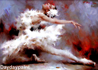 Handmade Ballet Oil Painting Cool HOME OFFICE DECOR FREE SHIPPING