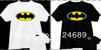Free Shipping Size 90/100/110/120/130/140/150cm kids tshirt batman T SHIRT ANIME movie bat man printed tshirt 100% cotton 6color
