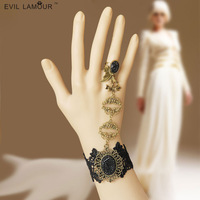 Clearance European and American punk retro fashion personality DIY handmade lace alloy Indian dance rings bracelets