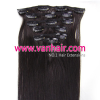 "15"",18,20"",22""24""26""28""7PCS Clip-in Remy Real Human Hair Extensions #1B Black ,Straight 70g,80g100g,120g"