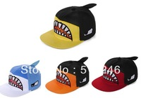 Free shipping 2013 fashion  Cartoon big shark hip-hop cap for male and female summer lovers Baseball Caps  Hat duck tongue hats