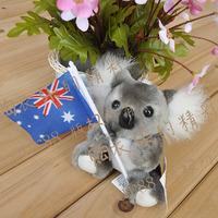 Koala australia national flag koala bear cinereus plush toy k135