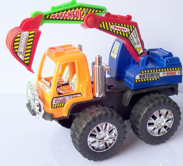 Children Toy car truck model mining machine Large 15cm Vehicles Model of excavator(China (Mainland))