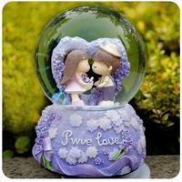 Lovers crystal ball music box music box wedding gifts wedding gift birthday gift