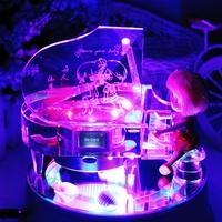 Birthday gift girls mp3 crystal piano music box music box