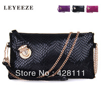 Genuine leather EVENING BAG/clutch fashion shoulder handbag/cowhide bag/serpentine pattern chain bag/evening bags