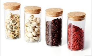 Transparent glass canister glass storage jar storage bottle storage jar Large milk cans
