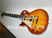 Left Hand Classic Lemon Burst Standard Electric Guitar Wholesale Guitars Free Shipping HOT