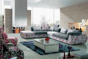 Print sectional fabric Sofa modern sofa european style furniture living room sofas