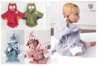 Free shipping unisex baby bathrobe animal hooded boy girl/cotton towel kid's robe/children infant bathing robe/Little Sun