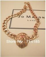 5PCS/LOT Rihanna's Style LION HEAD Statement NECKLACE Chunky Trendy Animal Necklace