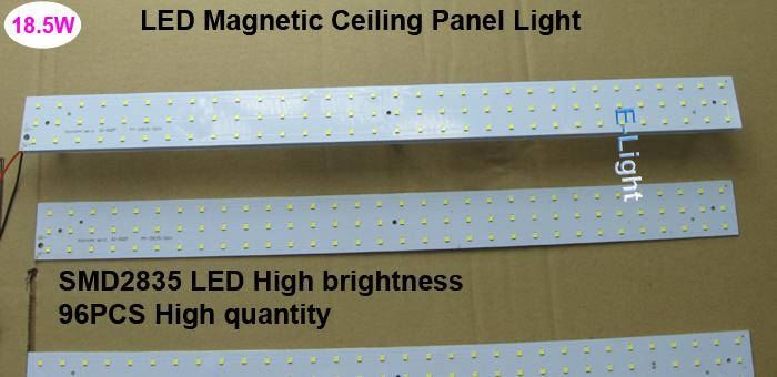 Low Voltage 12V 24V 18W Square LED Panel Light,Magnetic LED Light Bar Mounted Heat Sink,Replace Tube 2835smd for workshop office(China (Mainland))