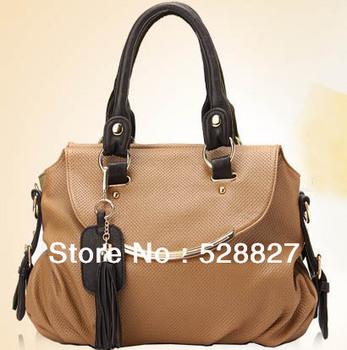 DoubleFish good quality fashion real leather handbag ladies' tote bag