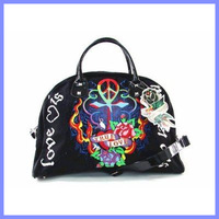 Free shipping cheap ed hardy 2014 top Brand Bags new Designer Woman's cool Style Leather fashion Handbags
