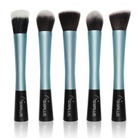 Sixplus Professional Makeup Brushes Set Powder Blush Foundation Brush Kit Brand Cosmetic Tool Blue Handle