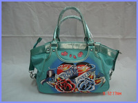 Free shipping cheap ed hardy 2014 Hot selling simple ladies handbag pu popular women shoulder messenger bag