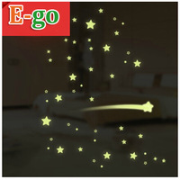 Free Shipping! Moon and stars  luminous stickers Vinyl wall stickers child room cartoon wall stickers NT and NS