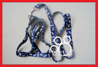 Pet leash thickening of the dog chest suspenders traction belt 2.0 blue