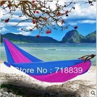 Multifunctional parachute cloth hammock canvas mesh hammock soft double hammock outdoor camping casual ride