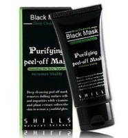 Free Shipping Best Selling SHILLS Deep Cleansing purifying peel off Black mud Facail face mask Remove blackhead facial mask 50ml