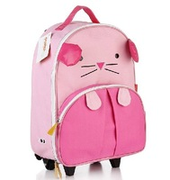 2013 cartoon child trolley school bag travel bag burdens