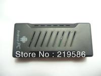 Free shipping Dual core A9 Amlogic M3 android mini pc google tv stick with HDMI VGA AV videoput XBMC DLNA smart tv stick