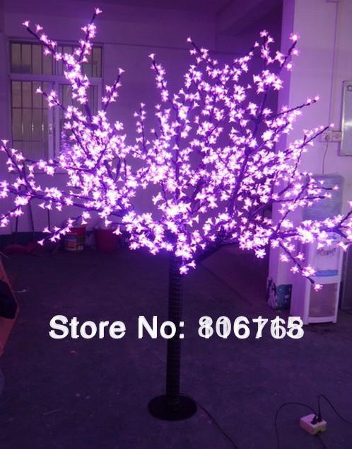 LED cherry tree light, 1248LEDs ,pink LED with cherry flowers led christmas tree light free shipping(China (Mainland))