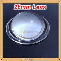 Hot 5pcs 28mm Transparent Focusing Flashlight High Power LED Lens Reflector Collimator 5-90 Degree for 10w 20w Led Light
